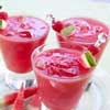 This is no childhood lemonade stand drink! Our awesome thick, rich and slushy Watermelon Raspberry Lemonade takes just a few whirls in your blender to whip up. All you need then is a tall glass, and let the sipping begin.