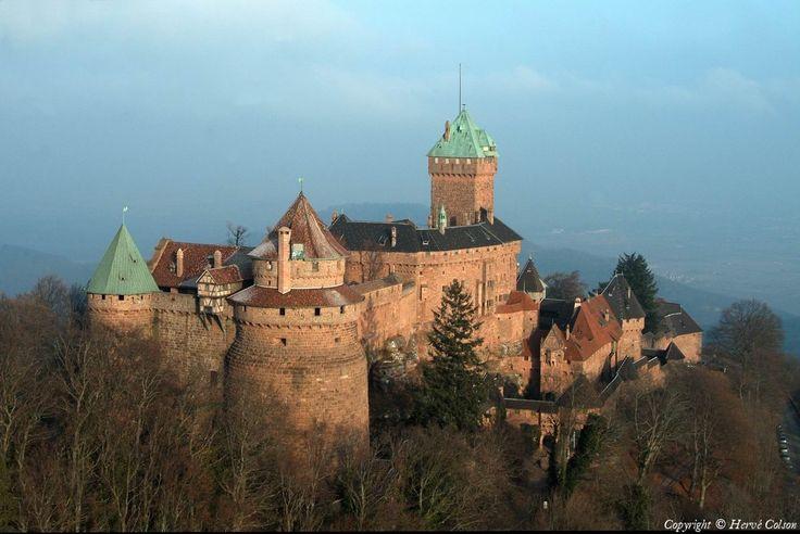 Photo aérienne de : Château du Haut-Koenigsbourg - Bas-Rhin (67)