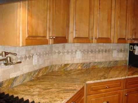 Kitchens : Custom Kitchen Tile Design Ideas With Finished Kitchen  Backsplash Design Ideas Using Mixed Tile Types Donu0027t