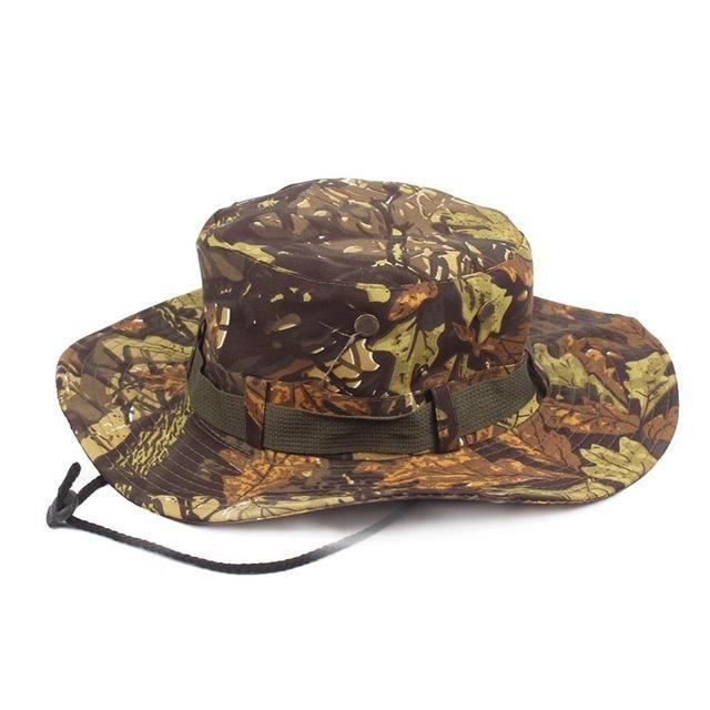cf8228791af CAMOUFLAGE BOONIE BUCKET HATS CAMO HATS WITH WIDE BRIM SUN FISHING BUCKET  HAT MEN CAMO WIDE-BRIM SNAPBACK BOONIE HAT