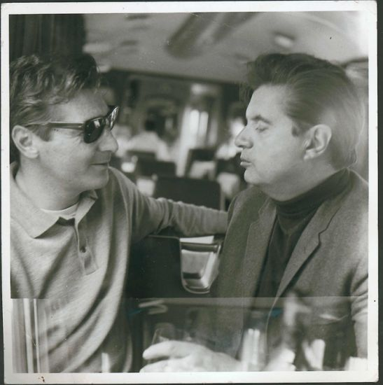 Francis Bacon and George Dyer on the Orient Express, 1965. Photograph by John Deakin. Collection Hugh Lane Gallery © The Estate of Francis Bacon