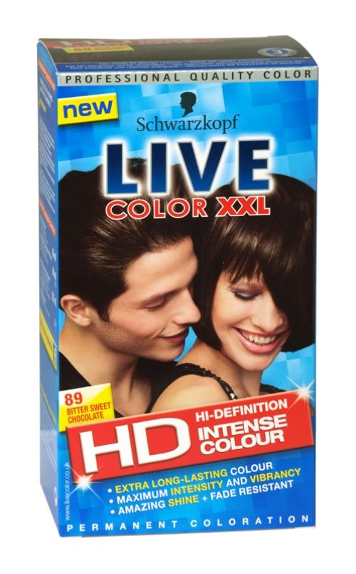 Schwarzkopf live color xxl hd hair colour 89 bitter sweet chocolate