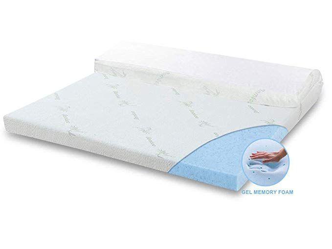 Angqi Orthopaedic Mattress Topper Gel Infused Memory Foam Topper