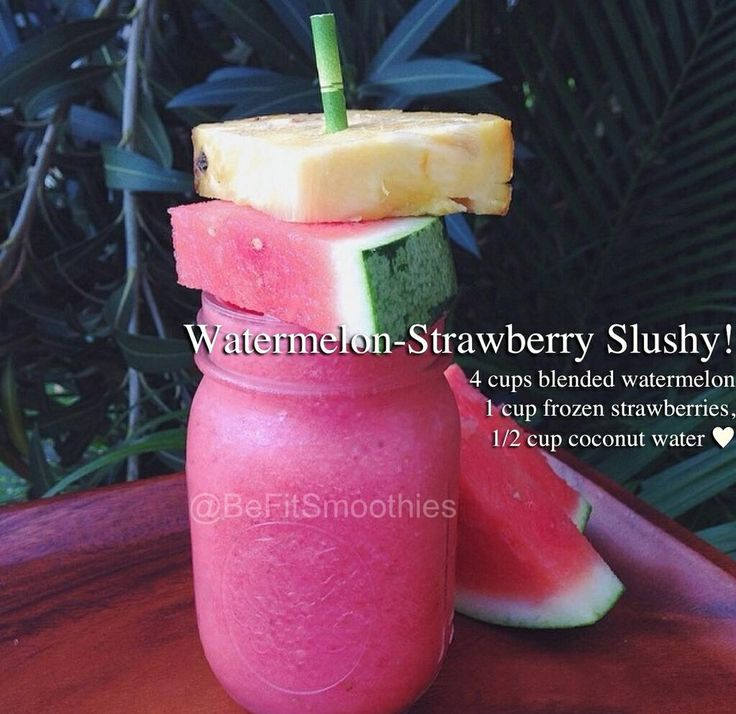 Watermelon Strawberry Slushy #healthy | Shakes and Smoothies | Pinter ...