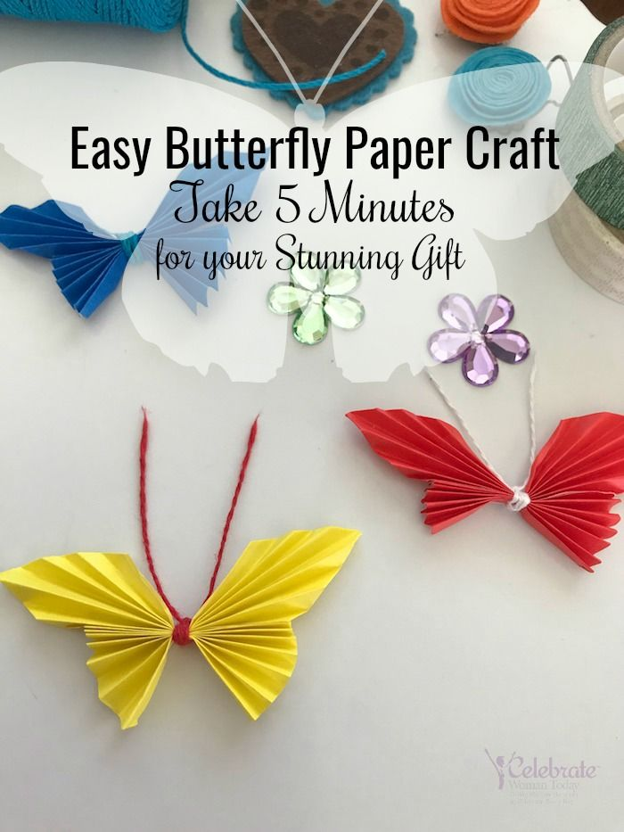 Easy Butterfly Paper Craft Tutorial You Can Do Mothers Day