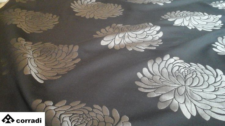 Home fabric for dècor by Romo 55% cotton 45% rayon cm. 137 x 300 Color ebony Price € 220.00