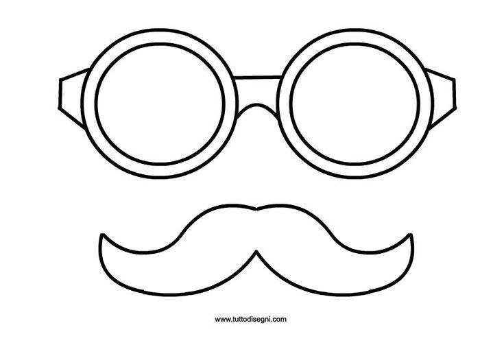 Carnevale – Occhiali e baffi da ritagliare
