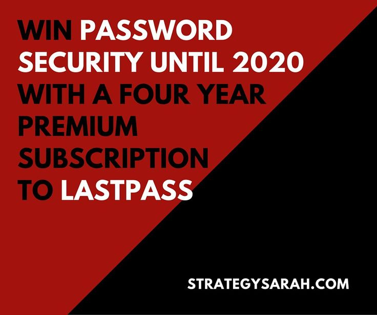 LastPass Premium membership for 4 years is up for grabs! Never forget your passwords ever again! This giveaway is open worldwide! Win a 4 year subscription with LastPass Premium from Strategy Sarah! You'll never need to remember or recover any of your passwords on all your devices! Just answer their simple question, answer is Strategy Sarah (you're welcome), then share the contest for more chances of winning! This international contest ends March 7th, 2016 at 4 PM PST. Don't forget to…