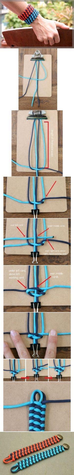 DIY Unique Weave Bracelet by penpen