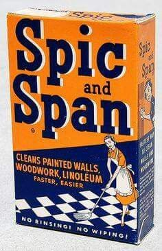Still use the Spic And Span spray.