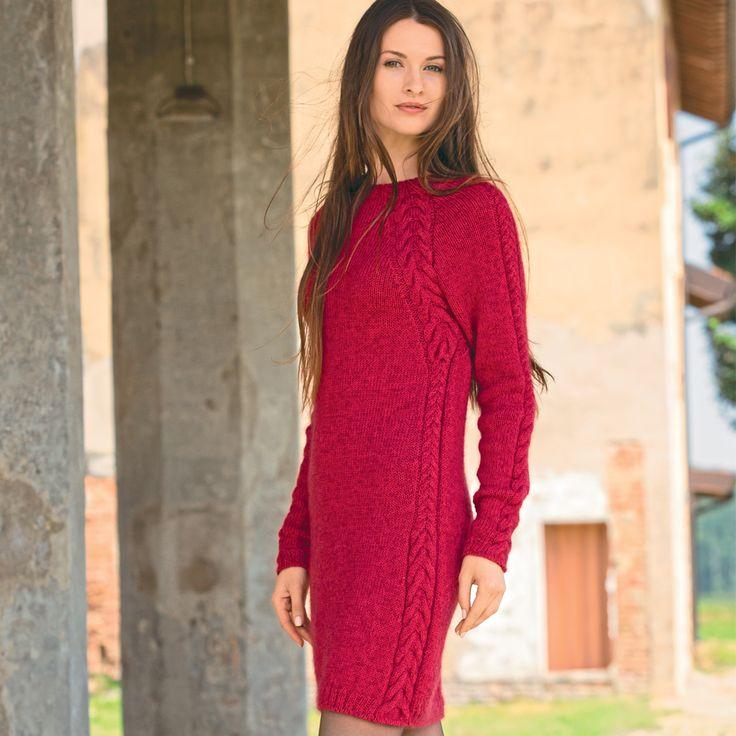 Платье-футляр с рельефными «косами»