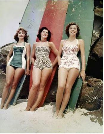 Bondi Beach, 1950s...love those cossies!