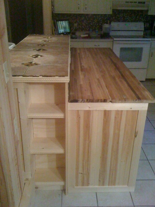 2 tier island picture 2 for the big house pinterest - Two tier kitchen island ...