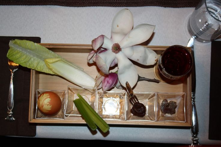 table settings - Claudia's Bento Box Inspired Passover Seder Plate | Kosher Recipes and Jewish Table Settings