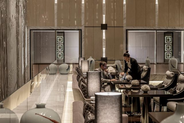 Guest at Executive Club by Four Seasons Hotel Pudong, Shanghai, via Flickr