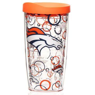 Denver Broncos Team Logo Bleacher Cushion - Navy Blue - Official Denver Broncos Shop