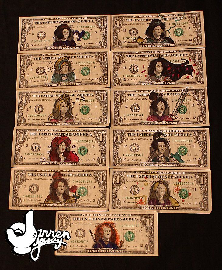 """""""So I wasted 11 dollars to turn George Washington into the Disney Princesses…""""   this is awesome!!!!"""