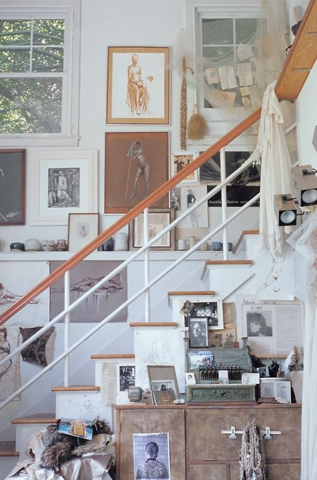 stairs.: Interior, Idea, Mary Randolph, Artist, Space, Gallery Wall, Design