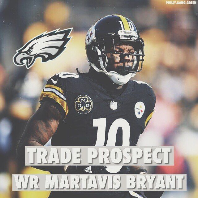 The Pittsburgh Steelers are open to trading WR Martavis Bryant. Although he has off-field issues the Eagles need a deep threat. Replacing Torrey Smith with Bryant would be an instant change. He would also only take a 4th or 5th round pick to obtain. Should the Eagles trade for him?  #EaglesNation #FlyEaglesFly #Philadelphia #Philly #GangGreen #BleedGreen #PhiladelphiaEagles #NFL