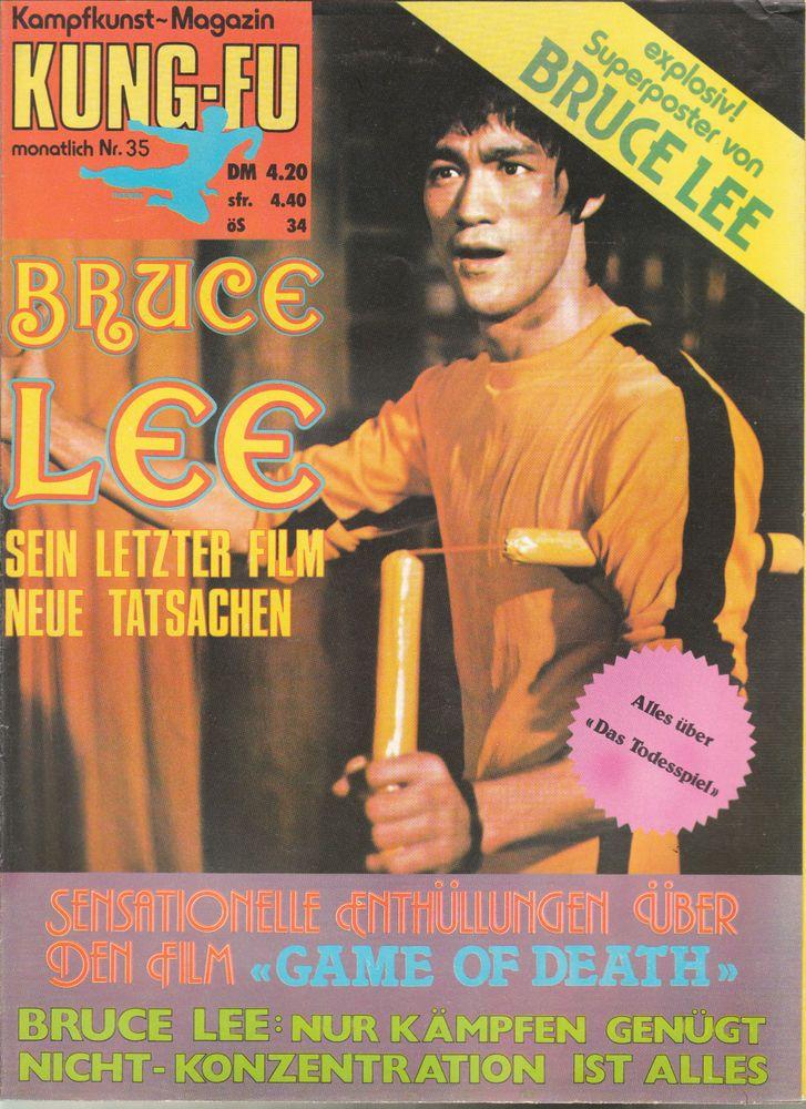 Kung Fu Kampfkunst Magazin Bruce Lee Nr 24 - 35 aus 1976 original rar selten top