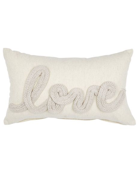 Add a sophisticated, Scandi-inspired touch to your home decor with this Love cushion from the Tilly@home Dune collection.