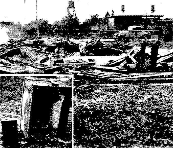 Henderson Town Hall destroyed by fire. June 1926.