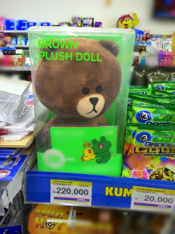 Jajaka Kulon: harga boneka line di indomaret Rp. 220.000