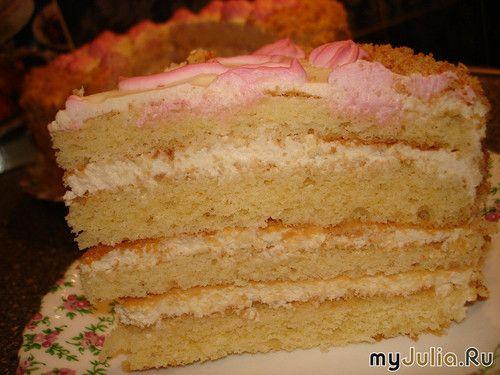 """Торт """"Яблочная нежность"""" нежнейший торт со сливками и яблочным пюре (обещала Яне kiti-kiti).: Экономная хозяйка!У меня ничего не пропадает!: Группы - diets.ru"""