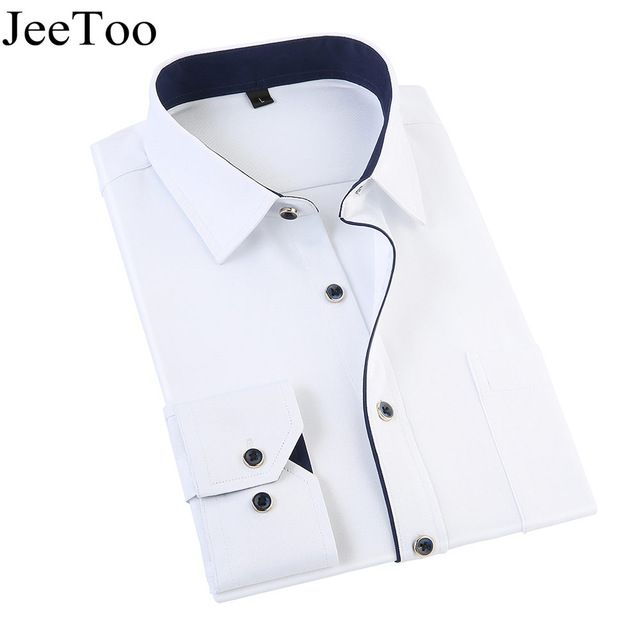 Special offer New Arrivel 2017 Mens Work Shirt Long Sleeve Twill Men Dress Shirts Business Male Shirts Plus Size Solid Color Shirt For Men  just only $12.02 - 12.95 with free shipping worldwide  #shirtsformen Plese click on picture to see our special price for you