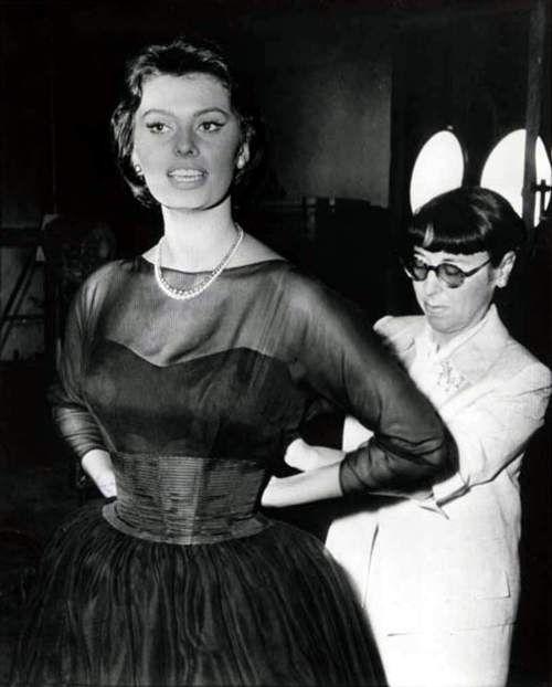 Sophia Loren and Edith Head