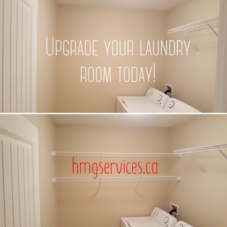 Simple laundry room upgrade to boost your storage space!