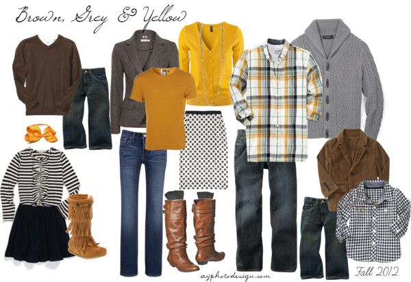 Brown, Grey & Yellow (Fall 2012)...post includes real examples of family sessions!