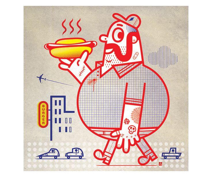 Dume - Tiphaine-illustration #characterdesign #hotdog #illustration