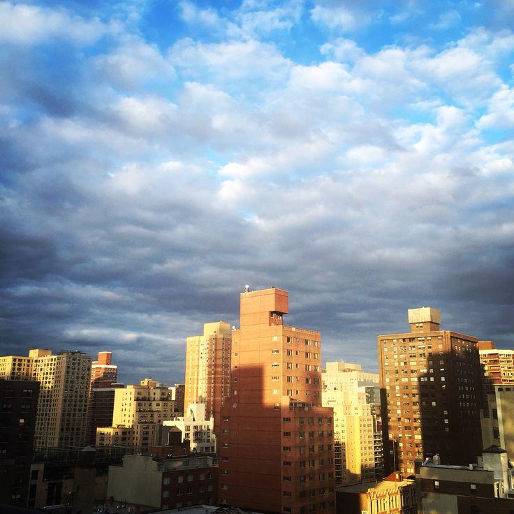 From my balcony! Goodbye blue sky!