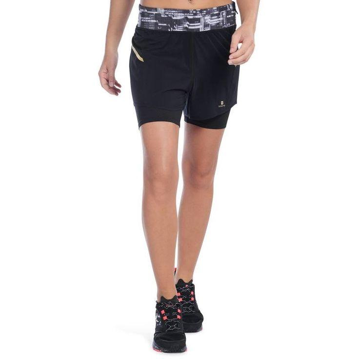 Dámské šortky Energy Xtrem 2 v 1 na fitness černé