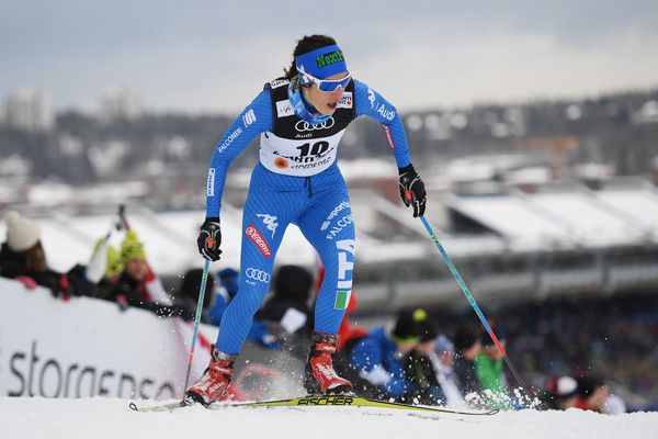 Ilaria Debertolis of Italy competes in the Women's 1.4KM Cross Country Sprint qualification round on February 23, 2017 in Lahti, Finland.