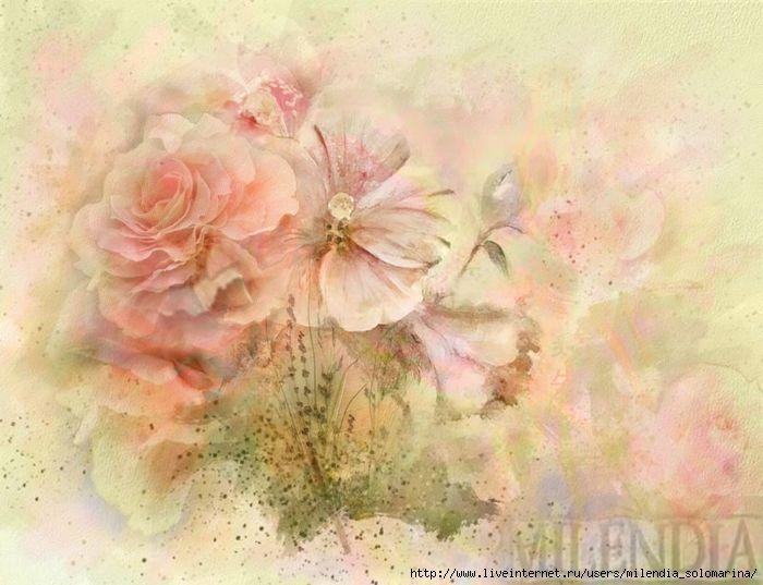 Полевые цветы в винтажном стиле
