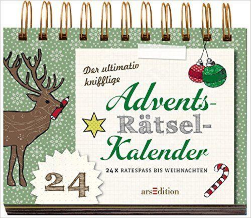 Der ultimativ knifflige Advents-Rätsel-Kalender: 24 x Ratespaß bis Weihnachten Rätsel-Adventskalender: Amazon.de: Norbert Golluch, Marielle Enders: Bücher