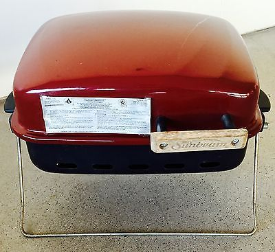 Sunbeam Tailgate Tabletop Burgundy Portable Propane Gas Grill (Model BC1712G)