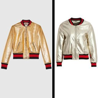 *COPY PASTE* Gucci bomber jacket (left) VS Bdba (right) Which one would you pick ? #gucci #bdba #bomber #jacket #cazadora #chaqueta #mode #ootd #look #fashion #blogger #potoroze #outfit #love #style #fashionblogger #lifestyle