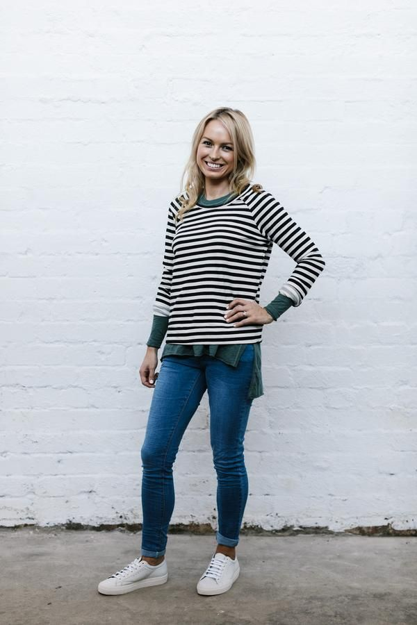Stripe Lucy Sweater from Blossom and Glow blossomandglow.com.au
