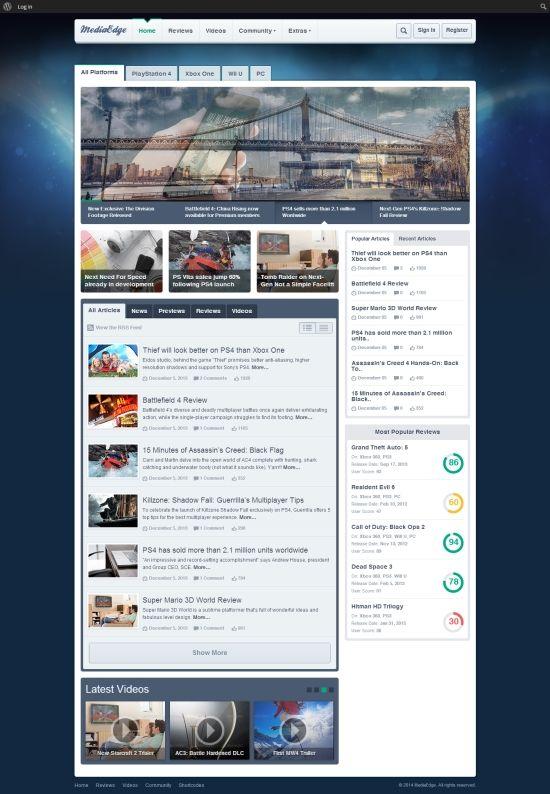 MediaEdge News Media WordPress Theme