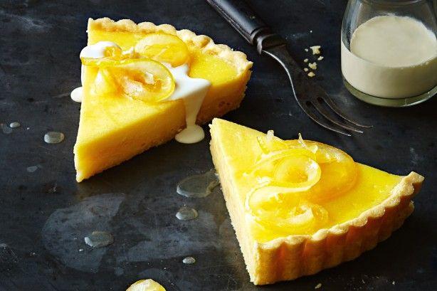 Lemon tart with candied lemon
