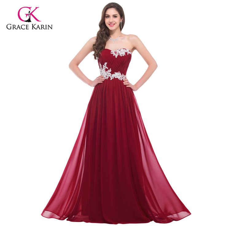 Long Evening dress Grace Karin elegant Chiffon Blue Women 2017 new Arrival formal dresses Plus Size Red Evening Gown * AliExpress Affiliate's Pin. Click the image to find out more on AliExpress website