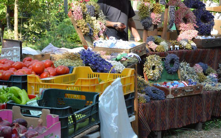 Sunday market Káptalantóti Hungary.