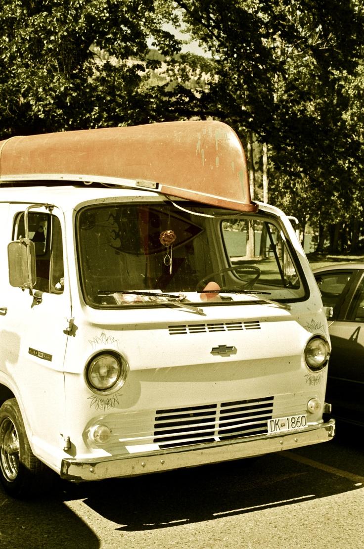 old chevy van <3    beaut