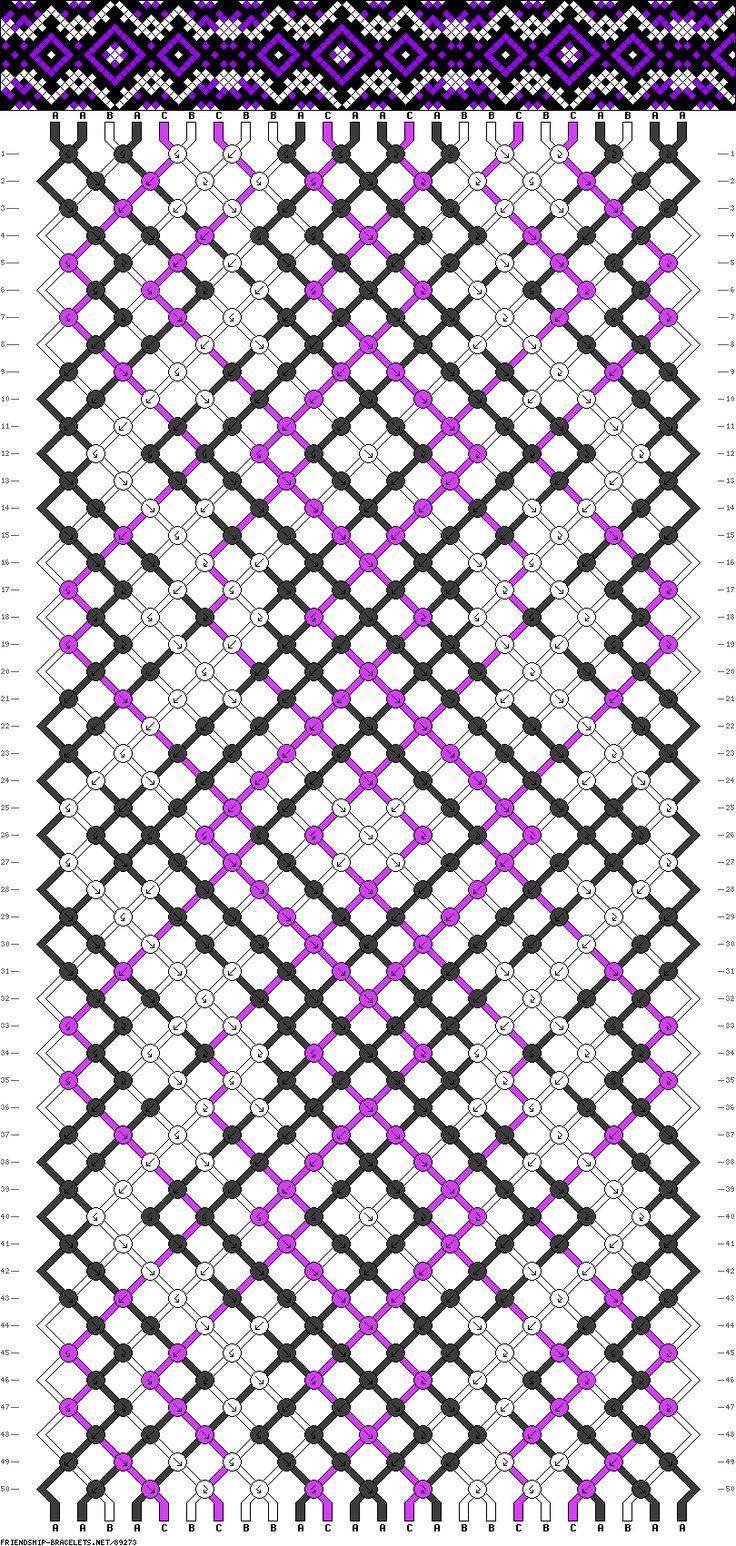Muster # 89273, Streicher: 24 Zeilen: 50 Farben: 3