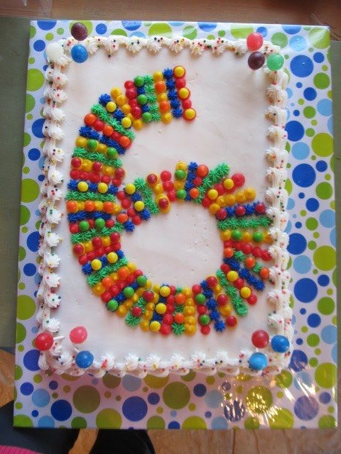 Six year old Birthday cake