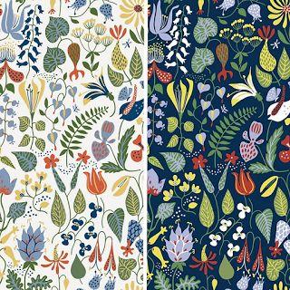 tapeta w kwiaty, kwiatowy wzór tapeta, tapeta w stylu skandynawskim