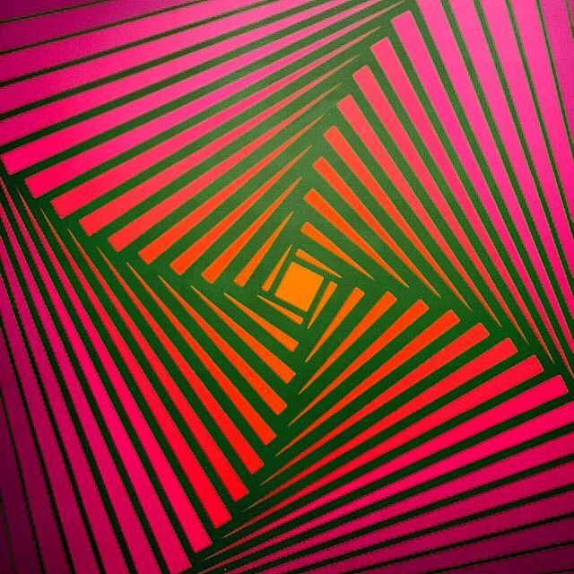 Museo MALBA Muestra Polesello Joven Rojo de cadmio luz verde permanente luz. 1971/Acrílico sobre tela/Museo de Arte Moderno de Bogotá-MAMBO  #polesello